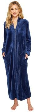 Carole Hochman Velvet Long Zip Robe Women's Robe