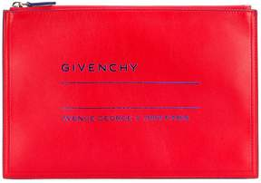 Givenchy Adresse logo print clutch