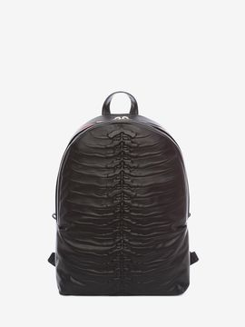 Alexander McQueen Black Rib Cage Backpack