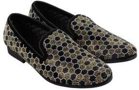 Steve Madden Caspian Black Silver Mens Casual Dress Loafers