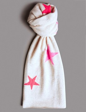 Marks and Spencer Pure Cashmere Star Print Scarf