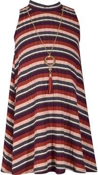 Bonnie Jean Girls 7-16 Sleeveless Striped Dress with Necklace