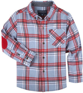 Andy & Evan Plaid Flannel Shirt, Size 2-7