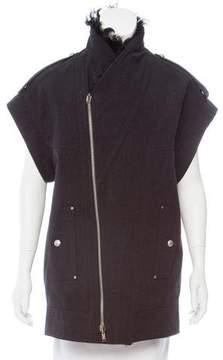 Diesel Black Gold Wool-Blend Shearling-Trimmed Jacket w/ Tags