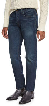 Tom Ford Straight-Fit Selvedge Harrison Wash Denim Jeans, Blue