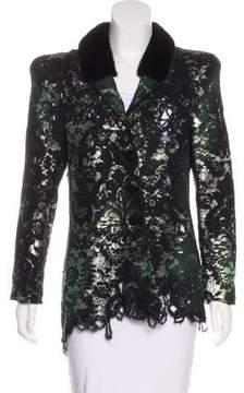 Roccobarocco Metallic Felted Jacket