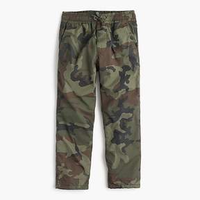 J.Crew Boys' lined chino pull-on pant in camo