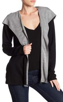 Cable & Gauge Layered Front Zip Jacket