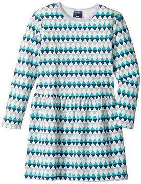Toobydoo Geo Blue Skater Dress Girl's Dress