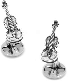 Co Ox and Bull Trading Sterling Silver Violin Cufflinks.