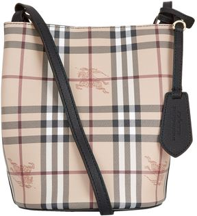 Burberry Small Lorne Bucket Bag - BLACK - STYLE