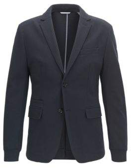 BOSS Hugo Jersey Blend Sport Coat, Extra Slim Fit Rodd J 38R Dark Blue