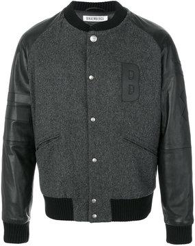 Dirk Bikkembergs appliqué logo baseball jacket