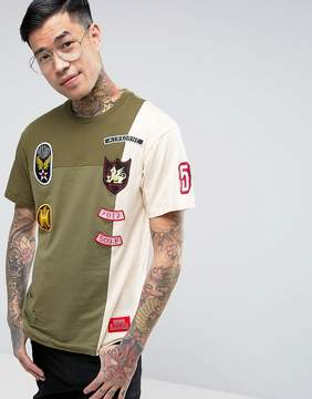 Reason T-Shirt With Distressing And Patches