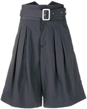 Kenzo high-waisted belted shorts