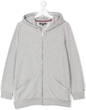 Tommy Hilfiger Junior zipped hooded jacket
