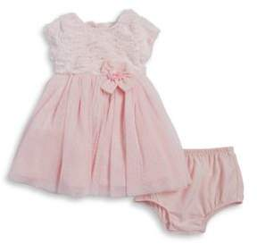 Little Me Baby Girl's Two-Piece Special Occasion Faux Fur Dress and Bloomers Set