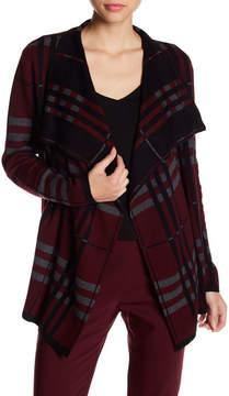 Chaus Long Sleeve Plaid Cardigan