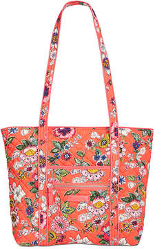 Vera Bradley Iconic Small Vera Tote - BUTTERFLY FLUTTER/SILVER - STYLE
