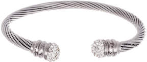 Bliss Crystal & Stainless Steel Twist Cable Cuff
