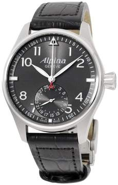 Alpina Startimer Pilot AL710G4S6 Stainless Steel & Leather Automatic 44mm Mens Watch