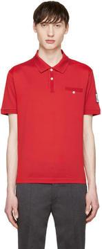 Moncler Gamme Bleu Red Cotton Polo