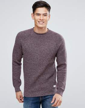 Jack Wills Half Stitch Crew Neck Sweater In Damson