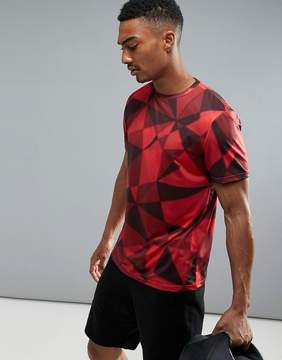 New Look SPORT T-Shirt With Geo Print In Red