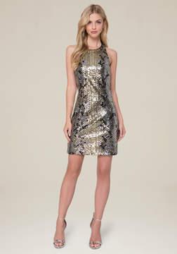 Bebe Krysta Sequin Python Dress