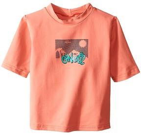 O'Neill Kids - Skins Short Sleeve Rash Tee Girl's Swimwear