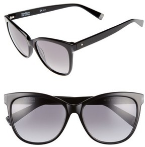Max Mara Women's Thins 56Mm Gradient Cat Eye Sunglasses - Black