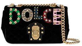 Dolce & Gabbana Dolce E Gabbana Women's Black Velvet Shoulder Bag. - BLACK - STYLE