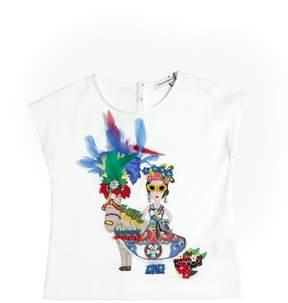 Dolce & Gabbana Embellished Cotton Jersey T-Shirt