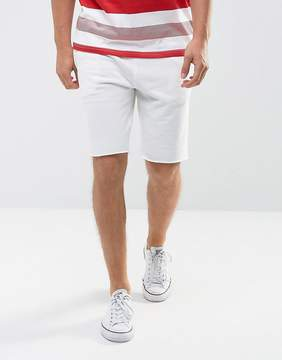 New Look Jersey Shorts In Off White