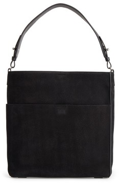 Allsaints Echo North/south Calfskin Tote - Black