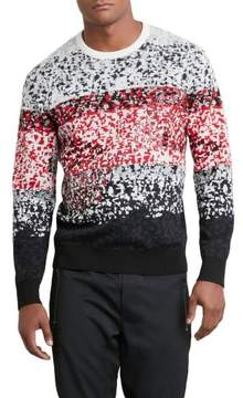Kenneth Cole New York Reaction Kenneth Cole Pixel Red Camo Sweater - Men's