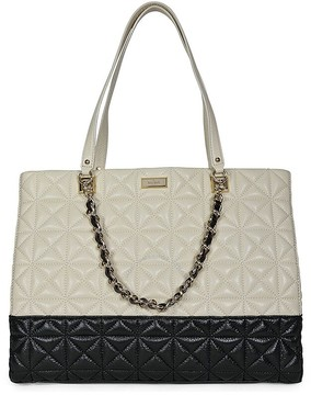 Kate Spade Open Box - New York Sedgewick Place Francesca Large Tote Bag - Pale Cream/Black - ONE COLOR - STYLE
