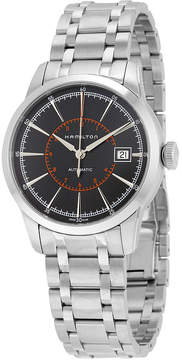 Hamilton Railroad Automatic Black Dial Stainless Steel Men's Watch