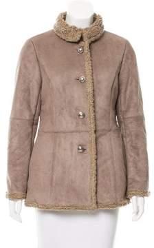 Courreges Suede Shearling Jacket