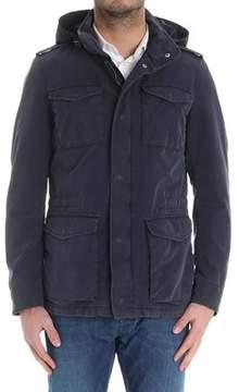 Herno Men's Blue Cotton Outerwear Jacket.