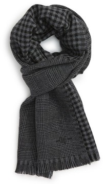 Hickey Freeman Men's Glen Plaid Wool Scarf