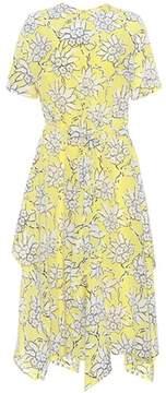 Valentino Floral-printed stretch-silk midi dress