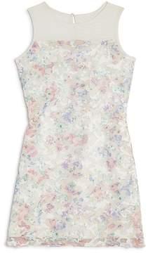 Blush by Us Angels Girls' Printed Lace Sheath Dress - Big Kid