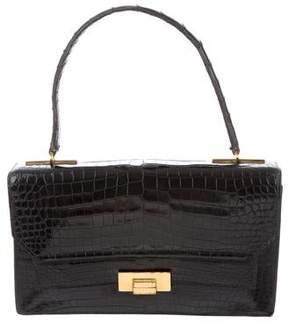 Hermes Vintage Alligator Handle Bag