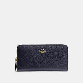 COACH Coach Accordion Zip Wallet - LIGHT GOLD/NAVY - STYLE