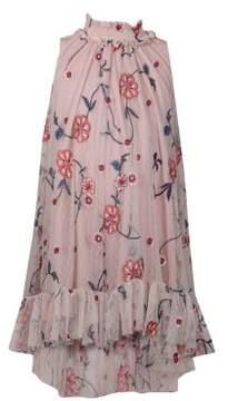 Iris & Ivy Little Girl's Embroidered Mesh Dress