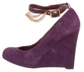 Marc by Marc Jacobs Suede Chain Wedges