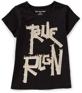 True Religion Big Girls 7-16 Studded Short Sleeve Tee