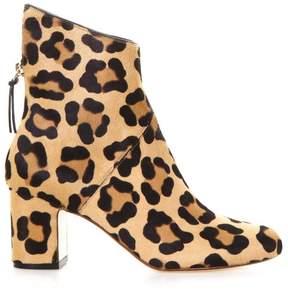 Francesco Russo Leopard Pony Ankle Boots
