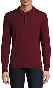 Michael Kors Basic Buttoned Wool Polo